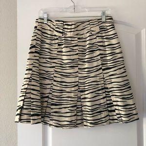 Marc Jacobs Animal Print Pleated Skirt